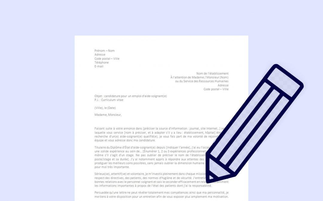 Modèle de lettre à télécharger
